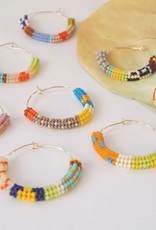 Kisiwa Kisiwa Cuerda Hoop Earrings