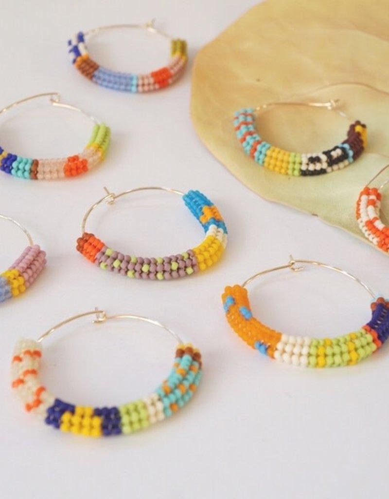 Kisiwa Cuerda Hoop Earrings - Round