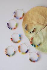 Kisiwa Kisiwa Cuerda Hoop Earrings