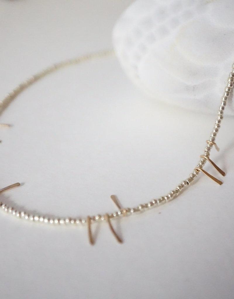Kisiwa Kisiwa Silver Fimbo Necklace