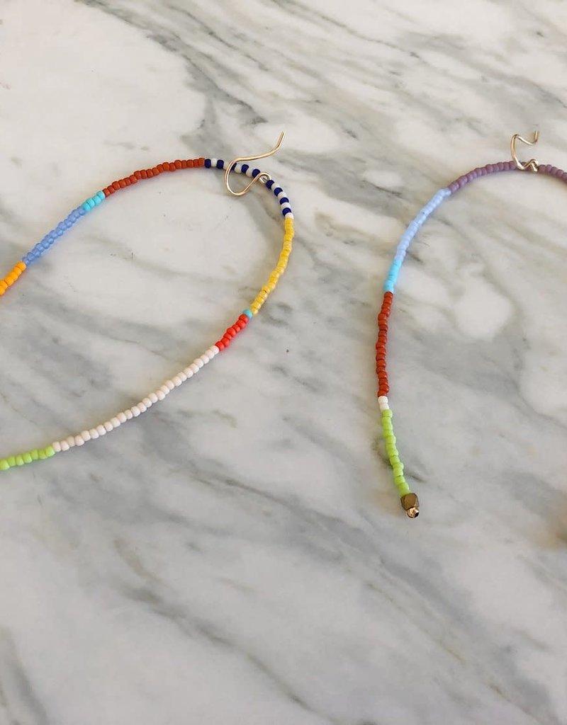 Kisiwa Kisiwa Rangi Drop Earrings