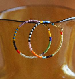 Kisiwa Rangi Hoop Earrings (large) by Kisiwa