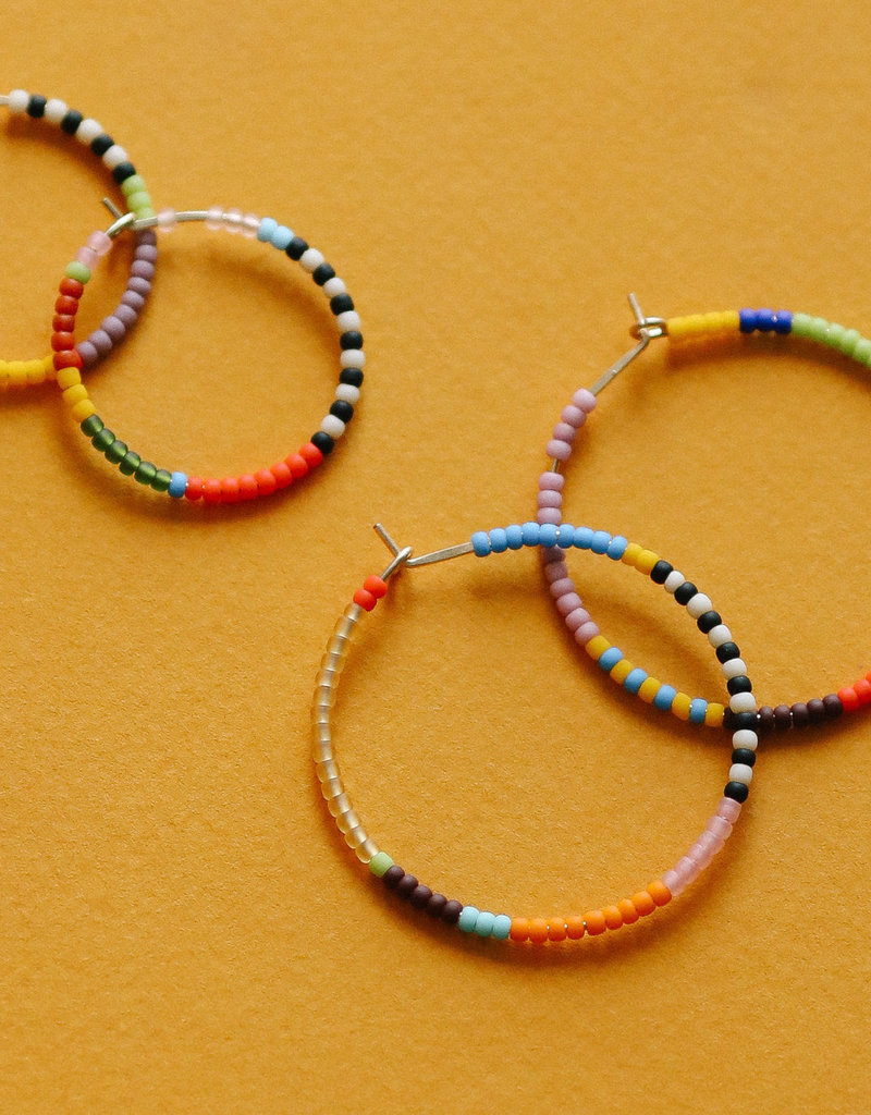 Kisiwa Small Rangi Hoop Earrings