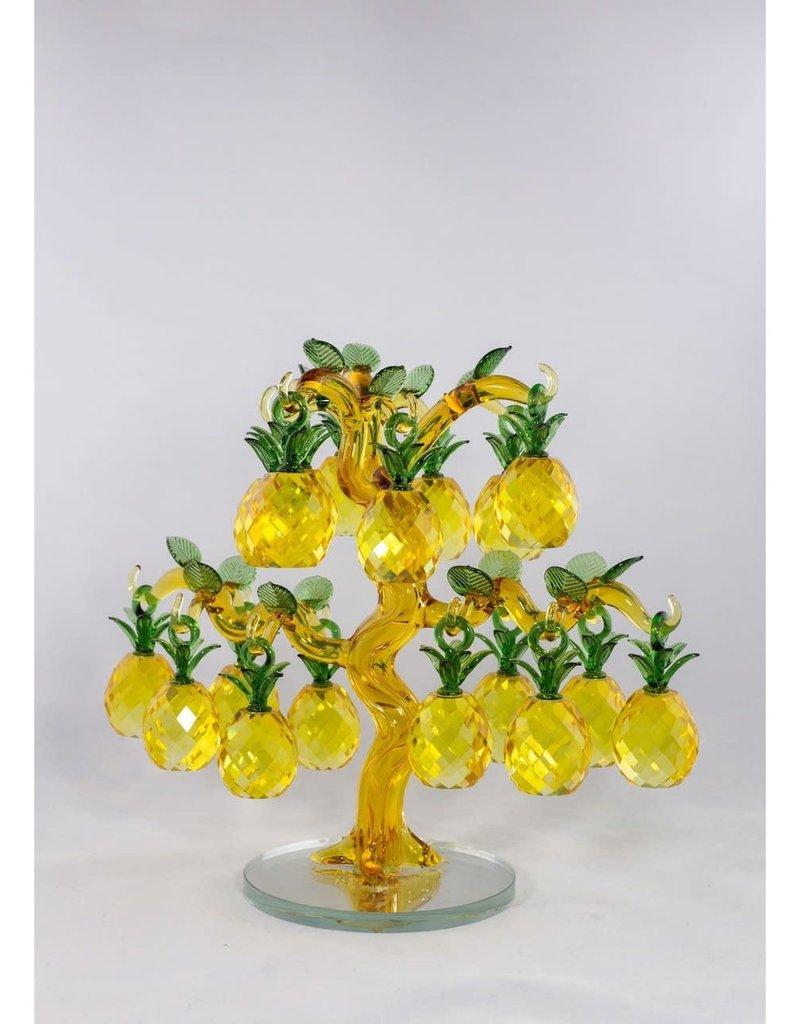 Glass Pineapple Decor