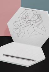 Poketo Poketo Isometric Notebook in Brick