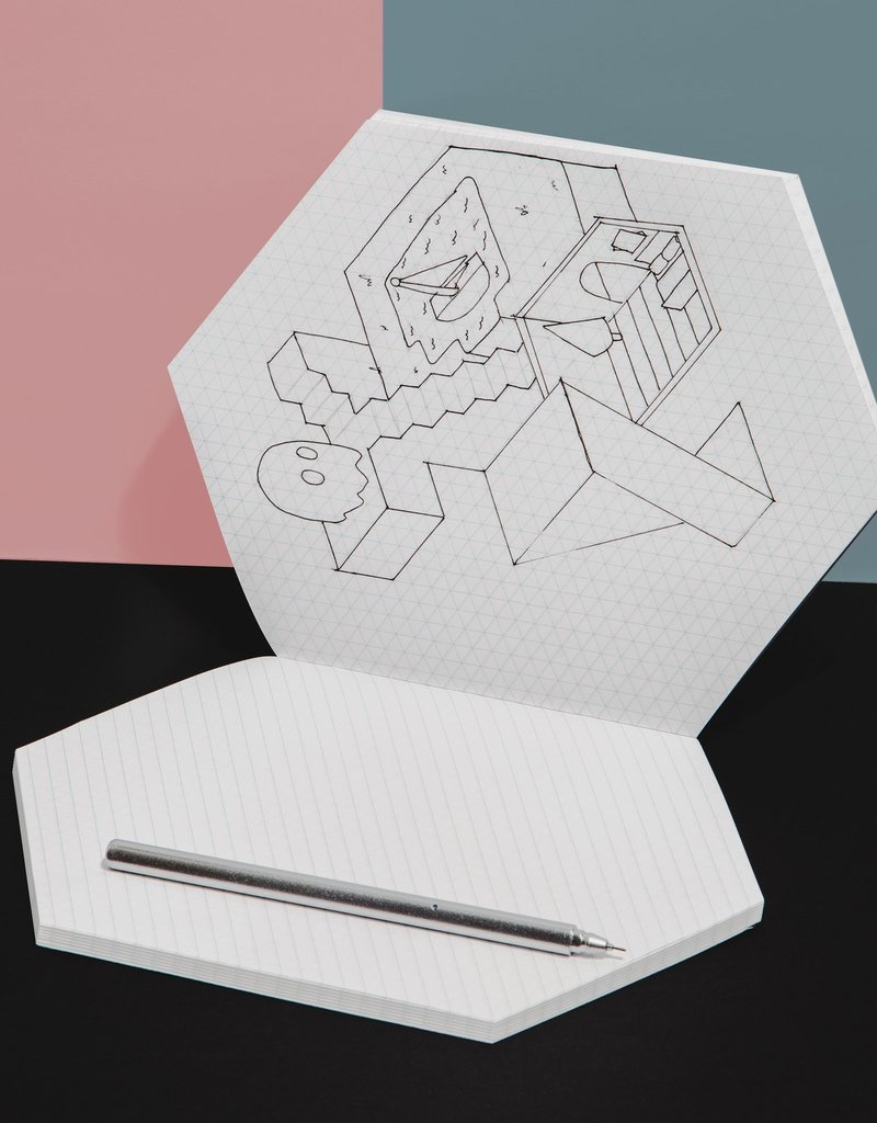 Poketo Poketo Isometric Notebook in Brick