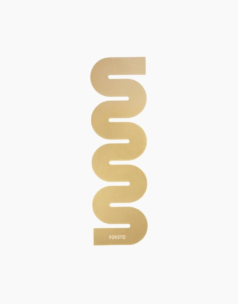 Poketo Brass Bookmark in Wave