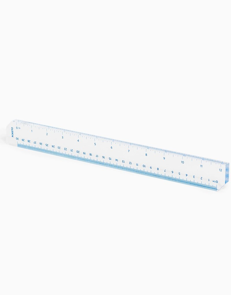 Poketo Acrylic Straight Edge Ruler