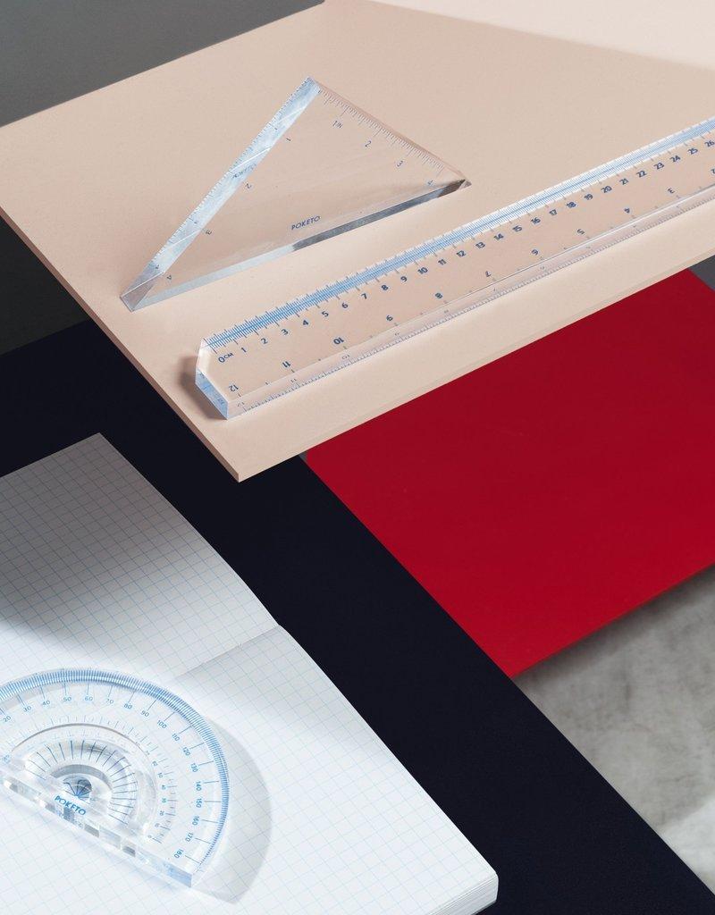 Poketo Poketo Acrylic Straight Edge Ruler