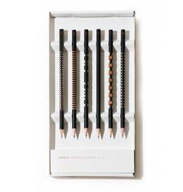 Tät Tat Laser Sculpted Pencils, Set of 6