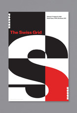 POSTER HOUSE The Swiss Grid Exhibition Poster (Red Exhibition Title on Black Background)