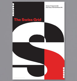 POSTER HOUSE Swiss Grid Exhibition Poster - Red on Black