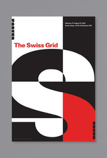 POSTER HOUSE The Swiss Grid Exhibition Poster (Red Exhibition Title on White Background)