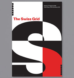 POSTER HOUSE Swiss Grid Exhibition Poster - Red title on White background