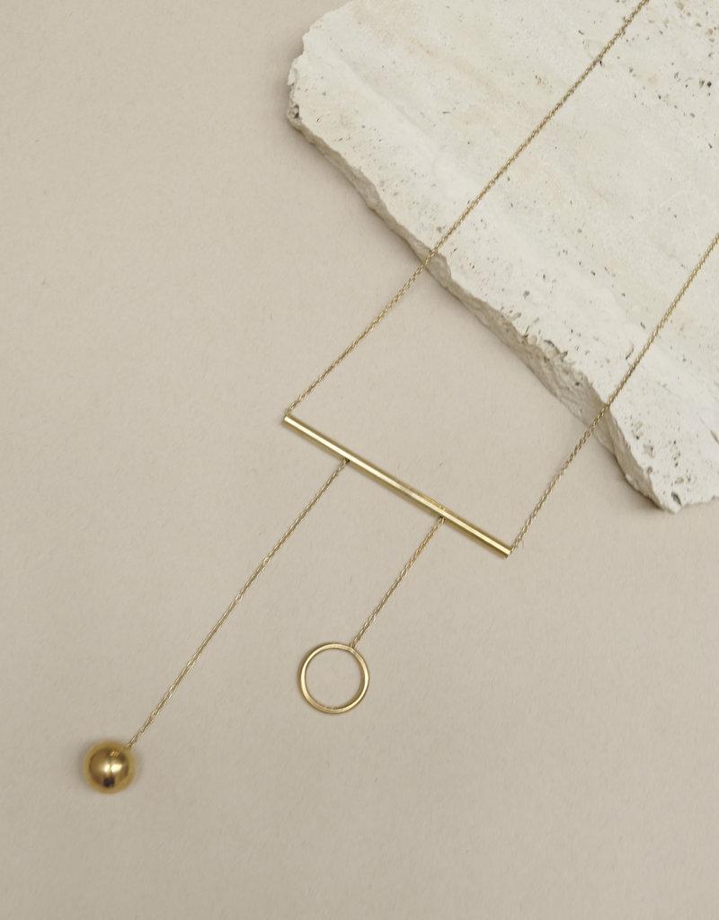 Ladies and Gentlemen Balance Bar Necklace