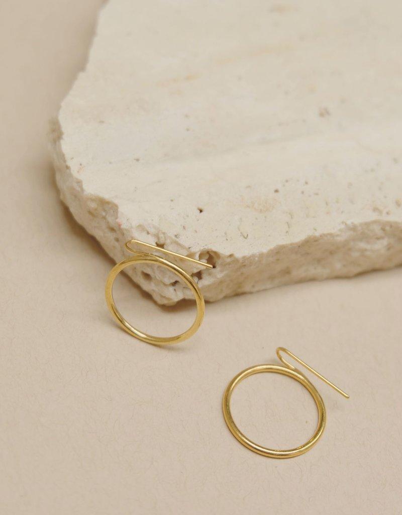 Ladies and Gentlemen Ring Climber Earrings