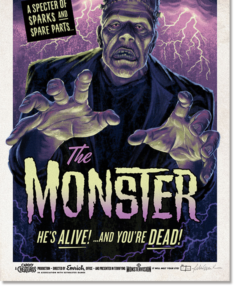 Emrich Monster Glow in the Dark Poster