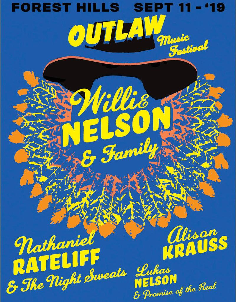 Willie Nelson Forrest Hills Poster