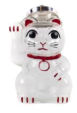 Hirota Glass Hirota Handblown Beckoning Cat Jar