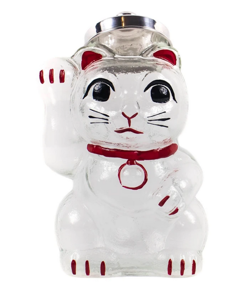 Hirota Glass Hirota Handblown Beckoning Cat Jar