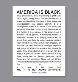 America is Black Poster