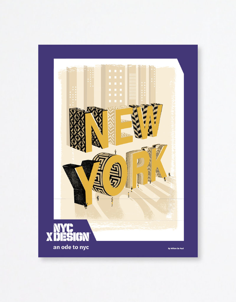 An Ode to NYC Poster by Milton De Paul