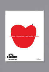 An Ode to NYC Our apple Poster by Rodolfo Agrella