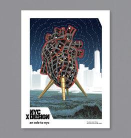 An Ode to NYC The Black Heart Thrives Poster by Leyden Lewis Design Studio