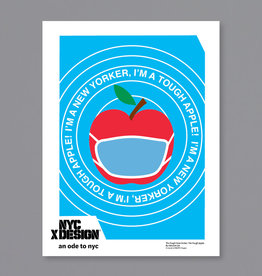 An Ode to NYC The Tough New Yorker, The Tough Apple. Poster by Vincent Lin