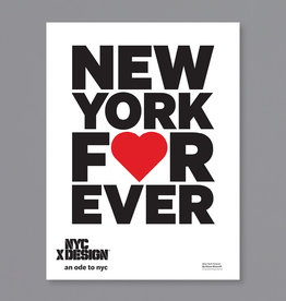 An Ode to NYC New York Forever Poster by Giona Maiarelli