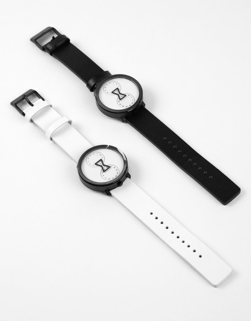 NU:RO NU:RO Watch with Black Leather Band