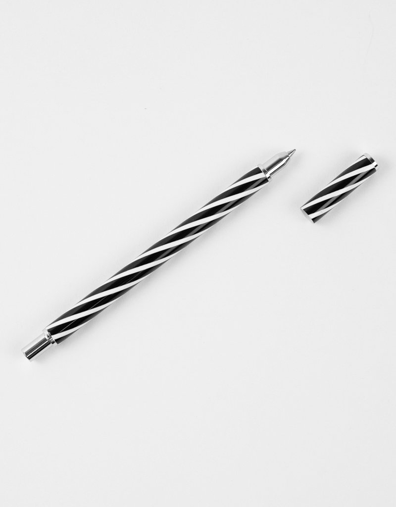 Acme Studios Candy Stripe Roller Ball Pen by  Lella Vignelli