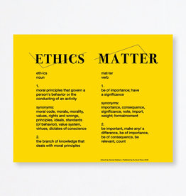 Du-Good Press Ethics Matter by Hannah Badwan - In Unity Poster