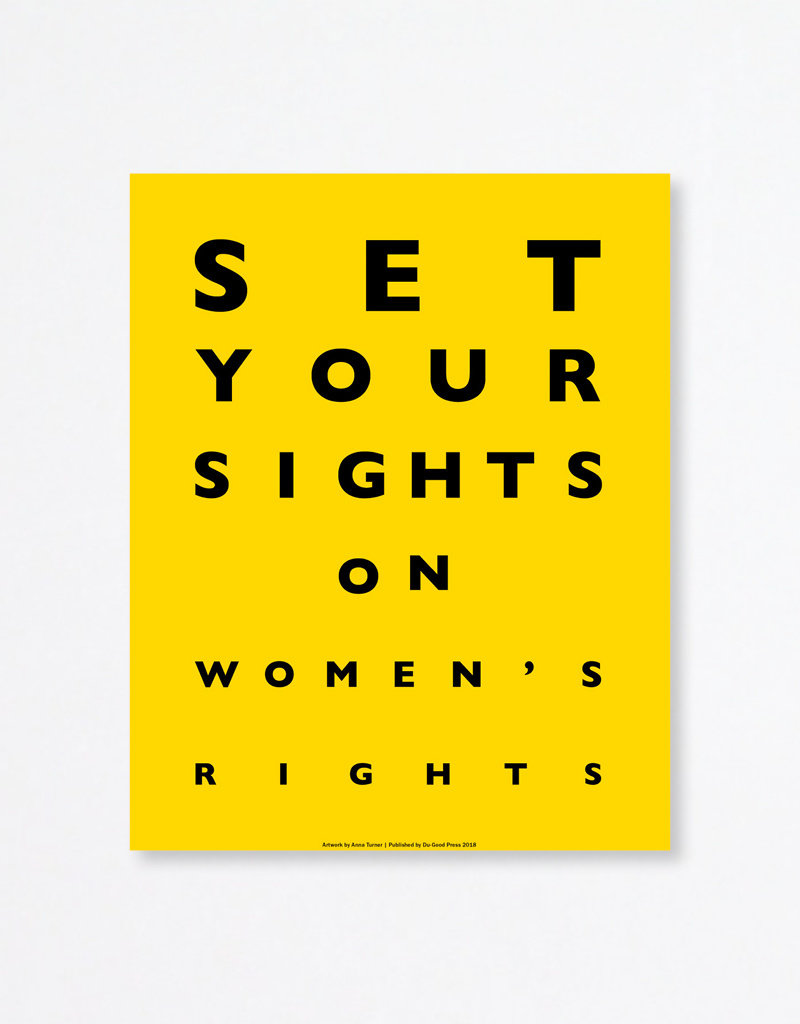 Du-Good Press Set Your Sights On Women's Rights by Anna Turner - In Unity Poster