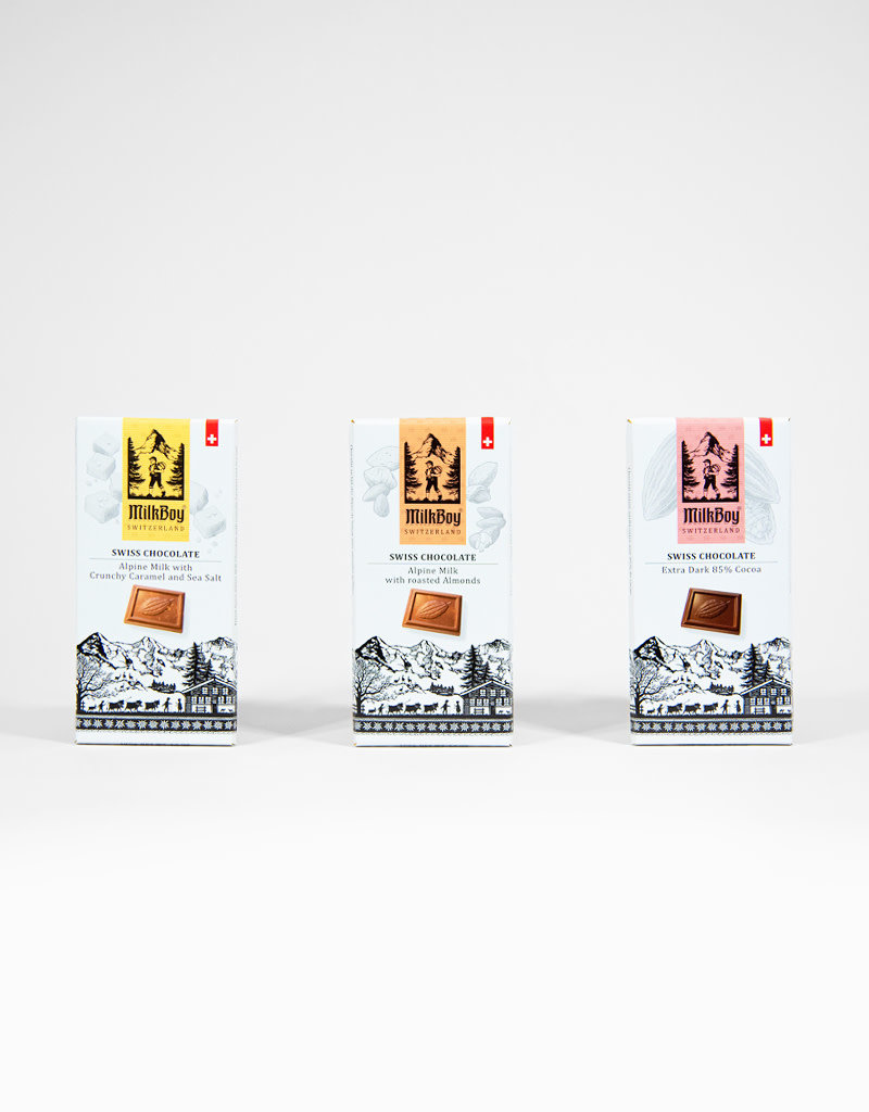 MilkBoy Milkboy Swiss Chocolates set of 3 Flavors