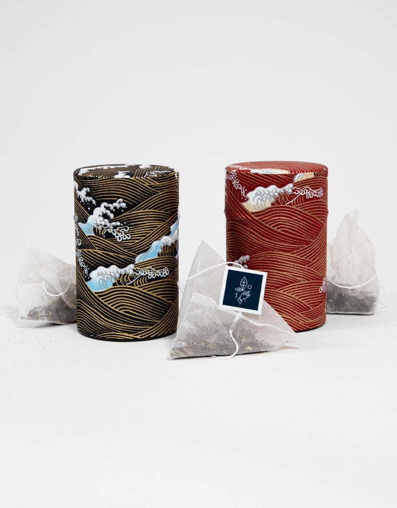 Rishi Café Rishi Tea  Canister and sachets set of two: Elderberry Healer &  Earl Grey Supreme