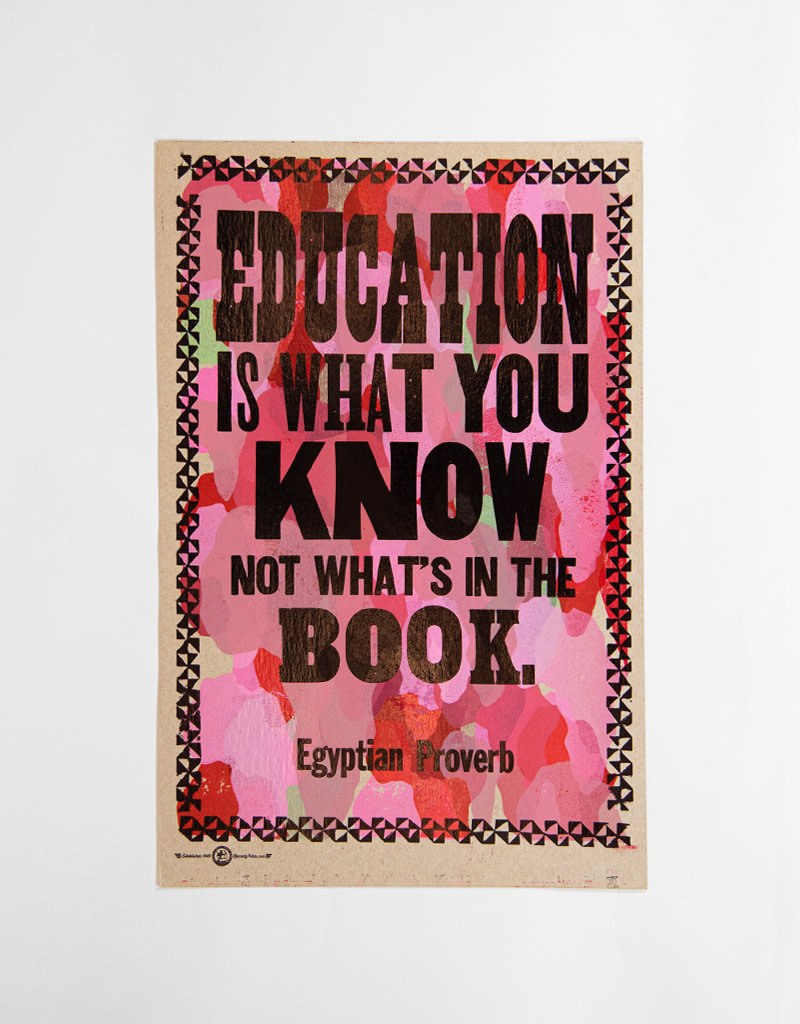 Education is What You Know Poster