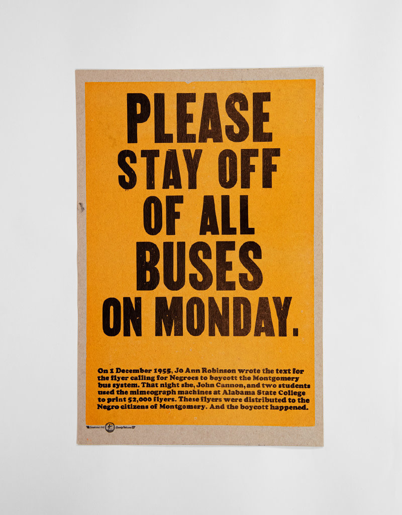 Please Stay Off All Buses On Monday. Poster