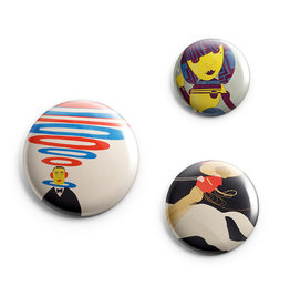 Klinger Button Pin Set of 3 Wolfsonian