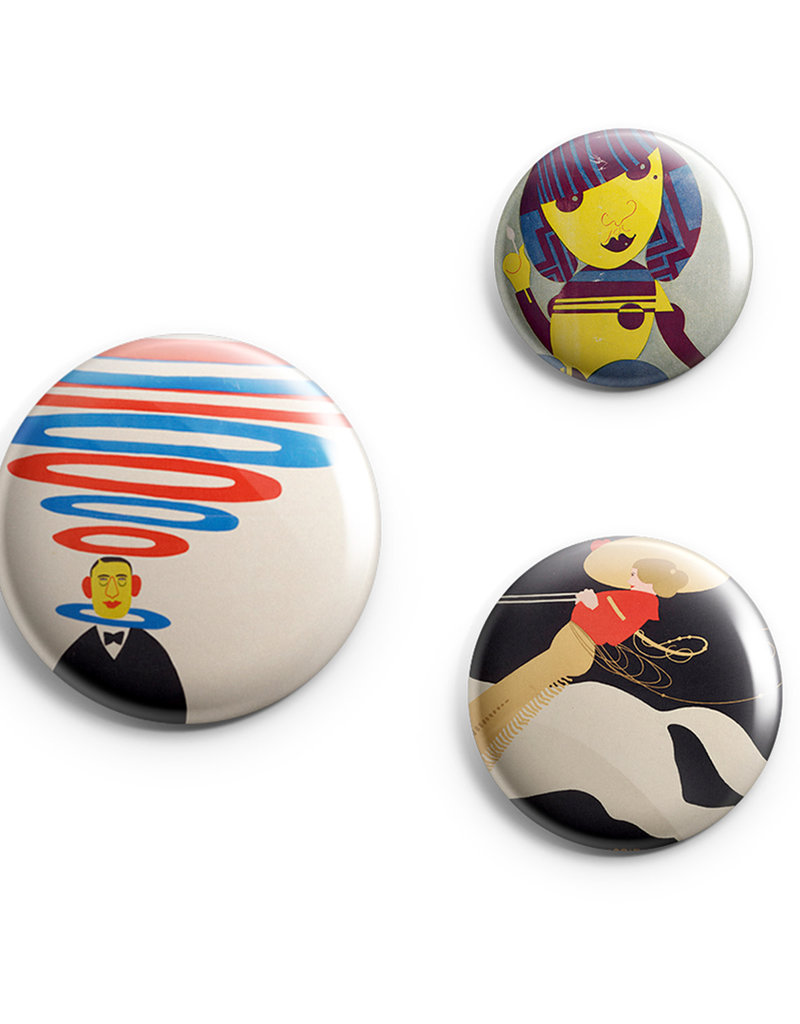 Klinger Button Pin Set of 3 Wolfsonian