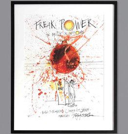 Freak Power Ralph Steadman Signed Print FRAMED- Edition of 100