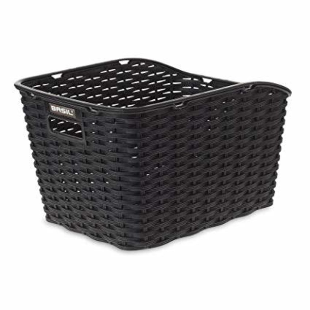 Basil BASIL WEAVE WP REAR BASKET BLACK