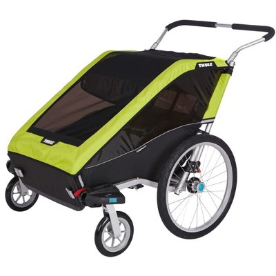 Thule 2020 THULE CHARIOT CHEETAH XT 2 CHILD CARRIER CHARTREUSE GREEN
