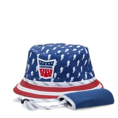 GONGSHOW STRIPES AND PIPES BUCKET HAT