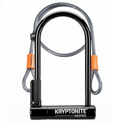 Kryptonite KRYPTONITE KEEPER 12 STD U-LOCK W/ 4' CABLE