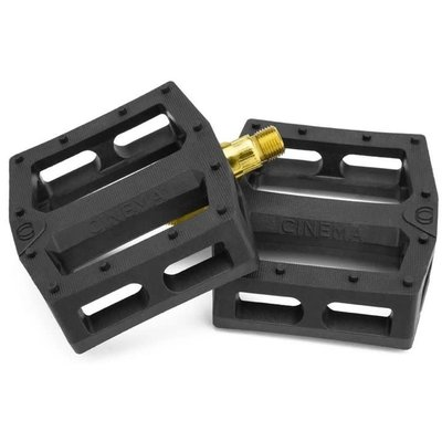 "Cinema CINEMA CK PEDALS 9/16"" BLACK/GOLD SPINDLE"