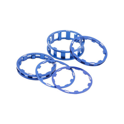 "Box BOX ONE HEADSET SPACER KIT 1-1/8"" BLUE"