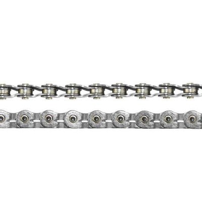 "Crupi CRUPI RHYTHM PRO HOLLOW HALF-LINK PIN CHAIN 3/32"" SILVER (RACE)"