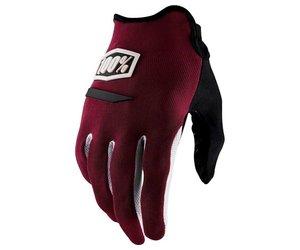 100% 100% Ride Camp Glove Burgandy