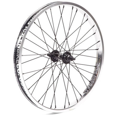 "Stolen STOLEN RAMPAGE 20"" FRONT WHEEL 10MM POLISHED SILVER"